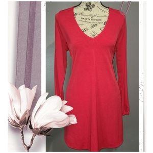 Hot Miami Styles Red V-neck Mini/Tunic